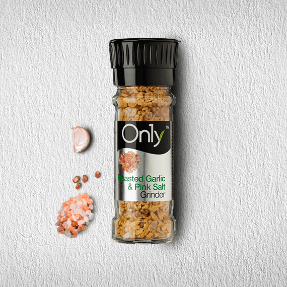 On1y Roasted Garlic & Pink Salt Grinder