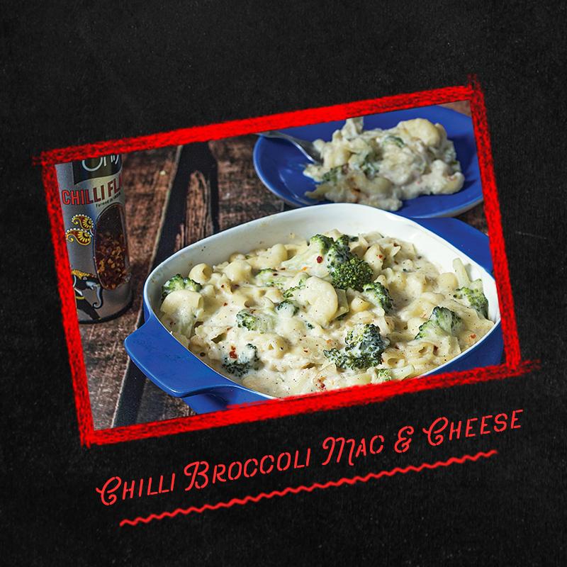 chilli broccoli mac & cheese