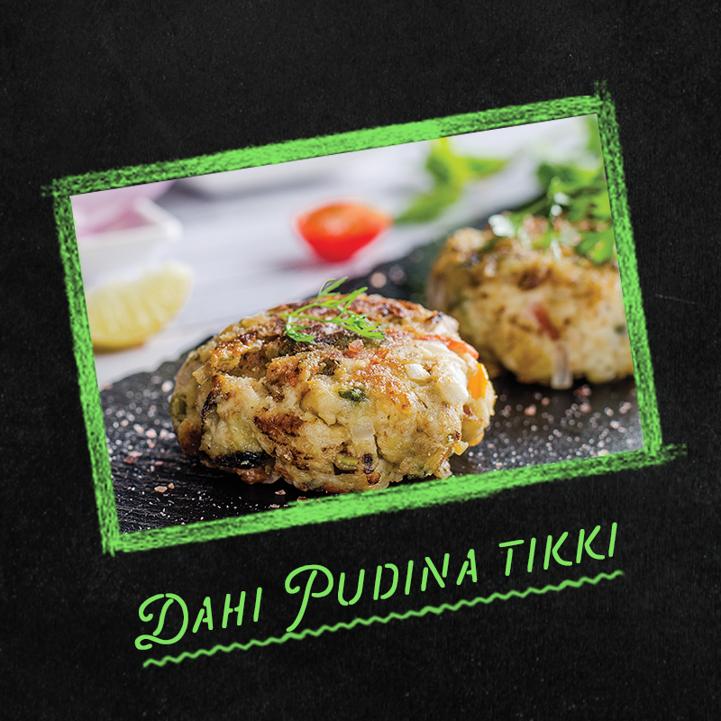 dahi pudina tikki