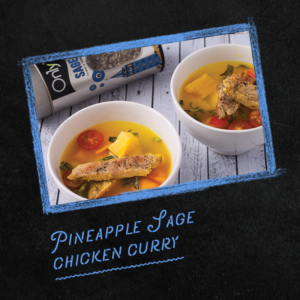 Pineapple sage chicken curry