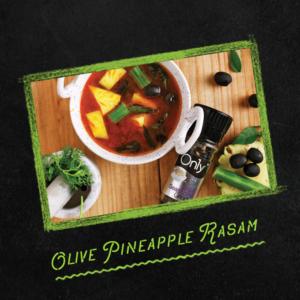 olive pineapple rasam